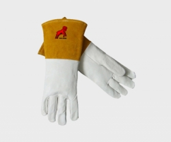REDRAM Leather Glove with Golden Colour Cuff