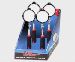 ULLMAN LED Lighted 2 3/8 Inch Diameter  Inspection Mirror 4-Pack