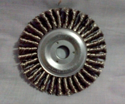 WEILER Wheel Brush Stringer Bead 4 Inch Stainless Steel